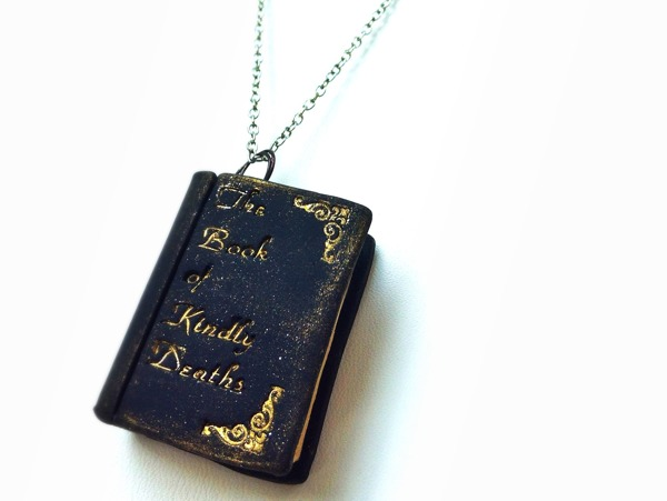 A necklace representing The Book of Kindly Deaths