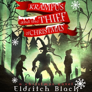 The audiobook cover for Krampus and The Thief of Christmas